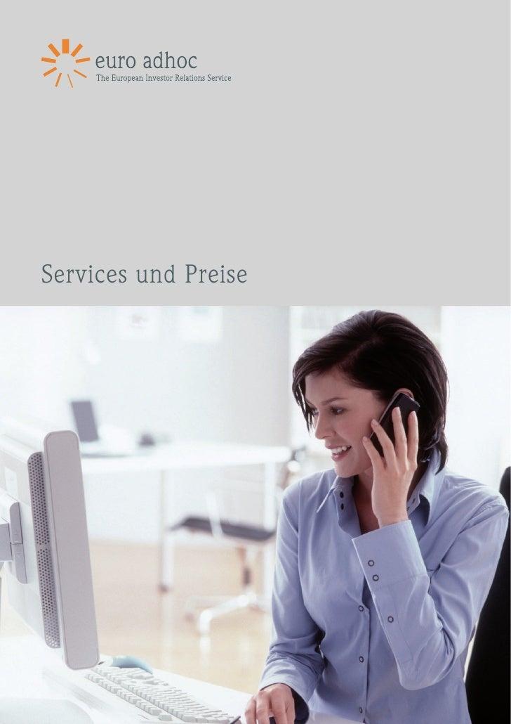 Broschüre IR Services 2010