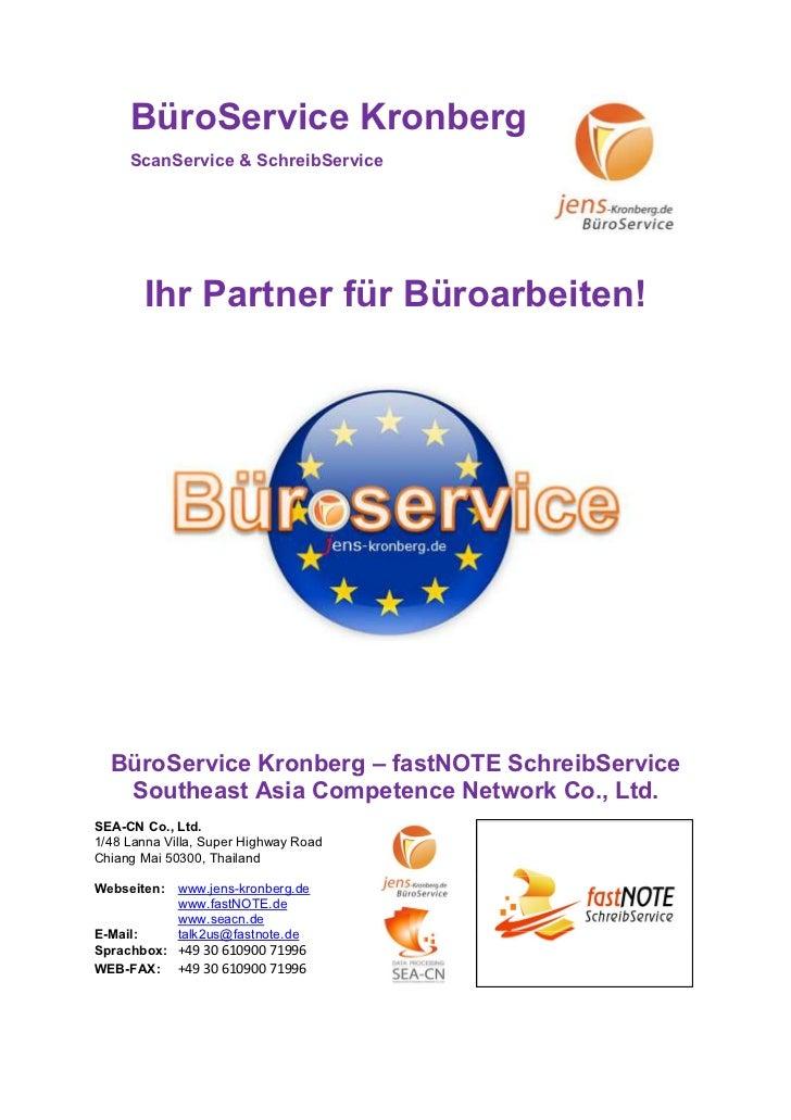 Büroservice für Kunden aus dem deutschsprachigen Raum