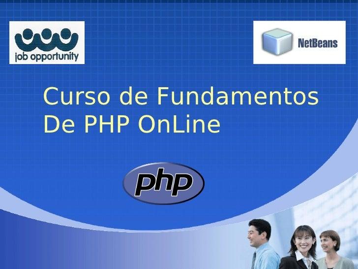 Curso de Fundamentos De PHP OnLine