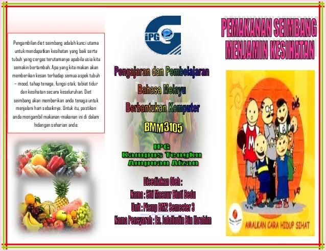 Pengambilan diet seimbang adalah kunci utama  untuk mendapatkan kesihatan yang baik sertatubuh yang cergas terutamanya apa...