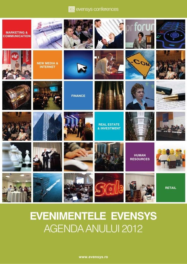 Agenda Evenimentelor Evensys in 2012