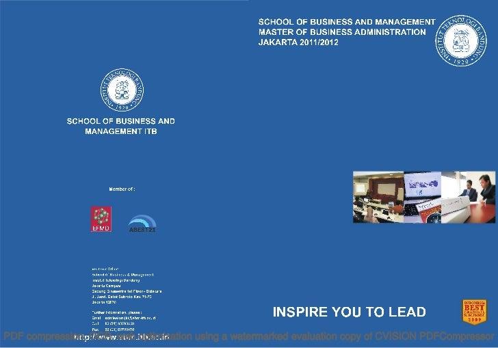 Brosur MBA ITB Jakarta