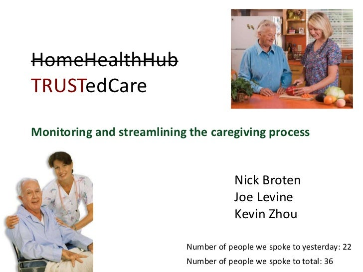 HomeHealthHubTRUSTedCareMonitoring and streamlining the caregiving process                                       Nick Brot...