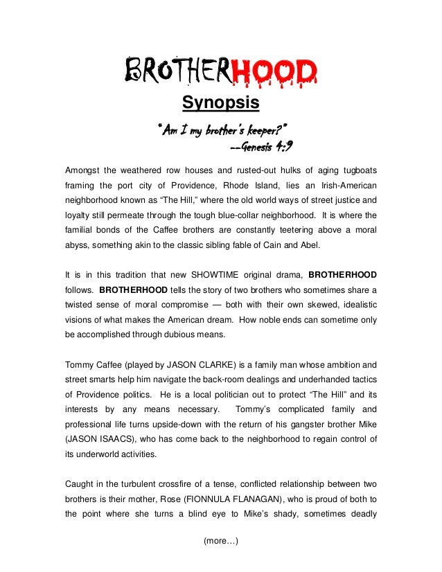 """Showtime's """"BROTHERHOOD"""" - New Series Synopsis"""