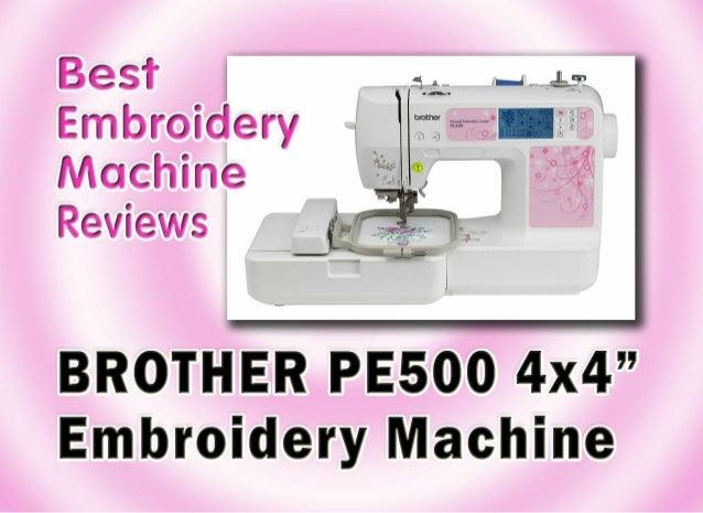 pe500 embroidery machine