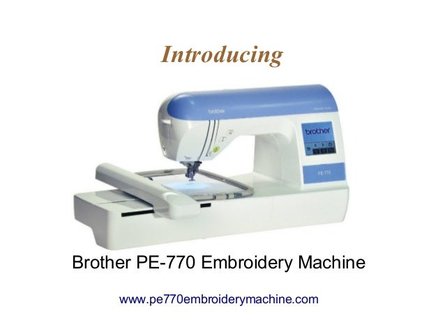 pe770 sewing machine