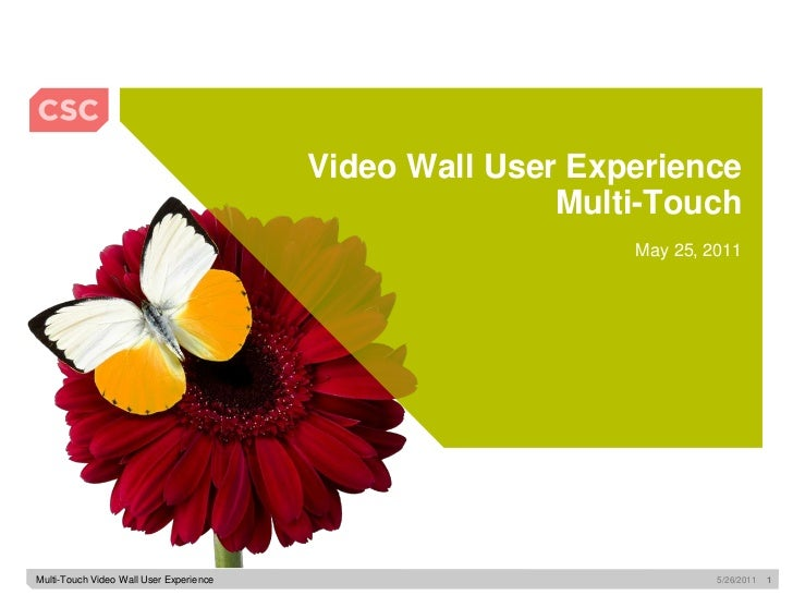 Video Wall User Experience                                                        Multi-Touch                             ...