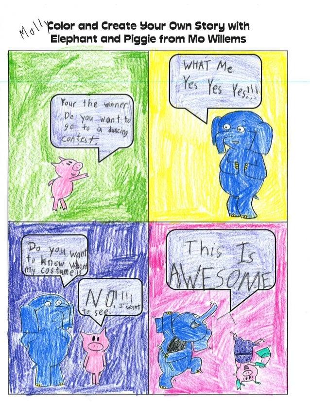 Mrs. Brown's Class Elephant and Piggy Comics Group 2