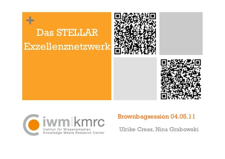 +  Das STELLARExzellenznetzwerk                    Brownbagsession 04.05.11                    Ulrike Cress, Nina Grabowski