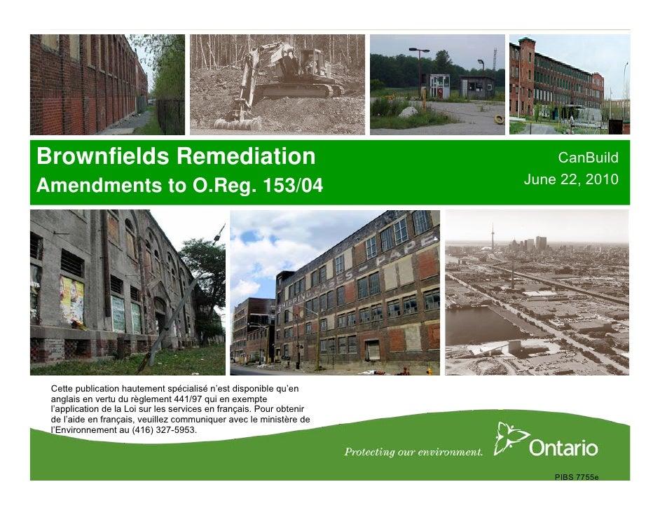 Brownfields Remediation