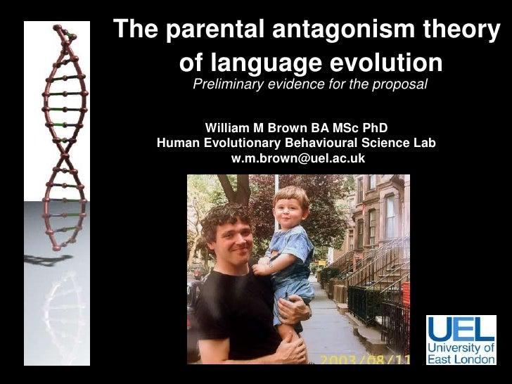 Language evolution and genomic imprinting