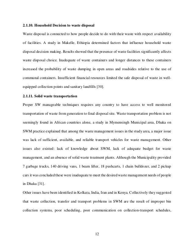 Dissertation on construction waste