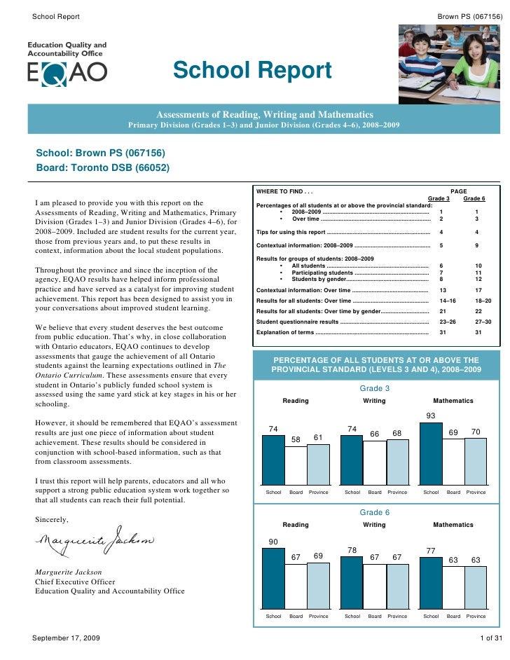 School Report                                                                                                             ...