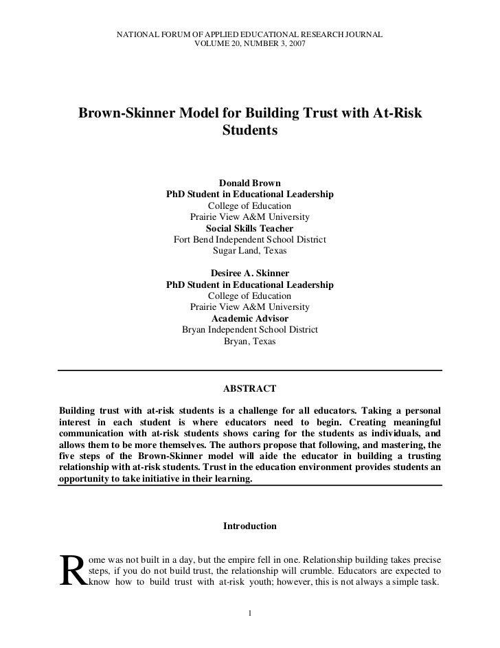 Brown Skinner Trust