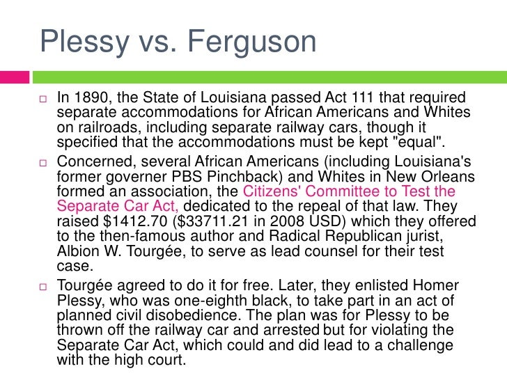 plessy vs ferguson summary essay Presidential debate of 2012 orlando what is a good persuasive essay plessy v ferguson 1896 case summary.