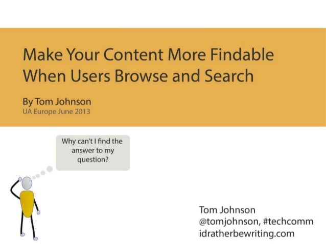 Make Your Content More Findable When Users Browse and Search