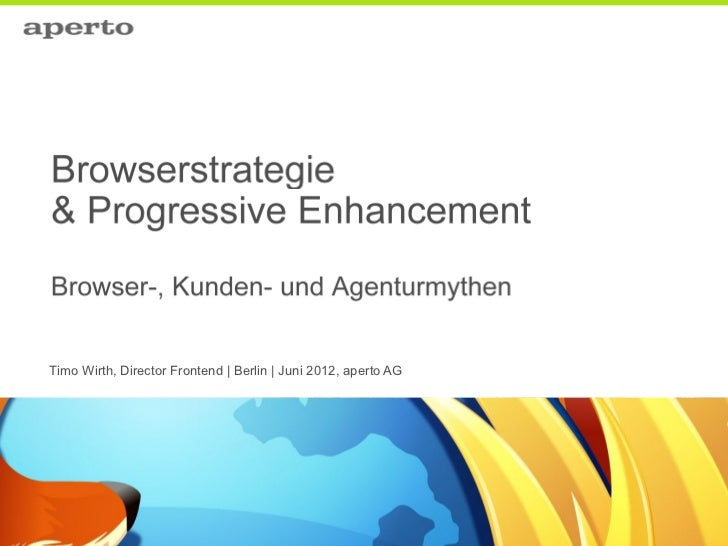 Timo Wirth, Director Frontend | Berlin | Juni 2012, aperto AG