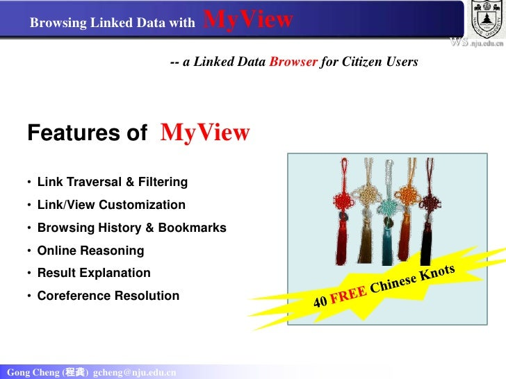 Browsing Linked Data with MyView