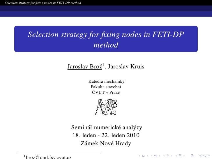 Seminary of numerical analysis 2010