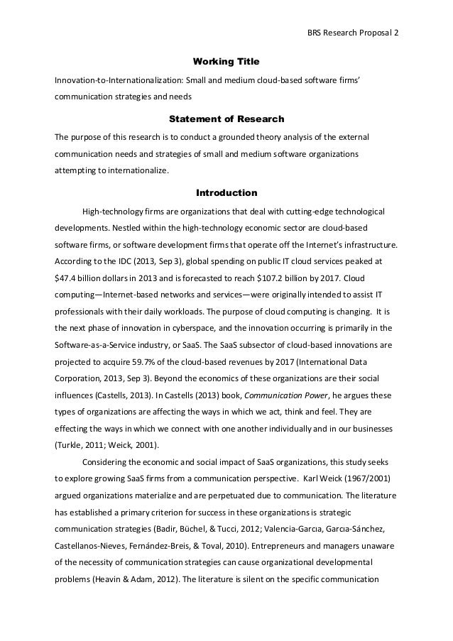 research cover page