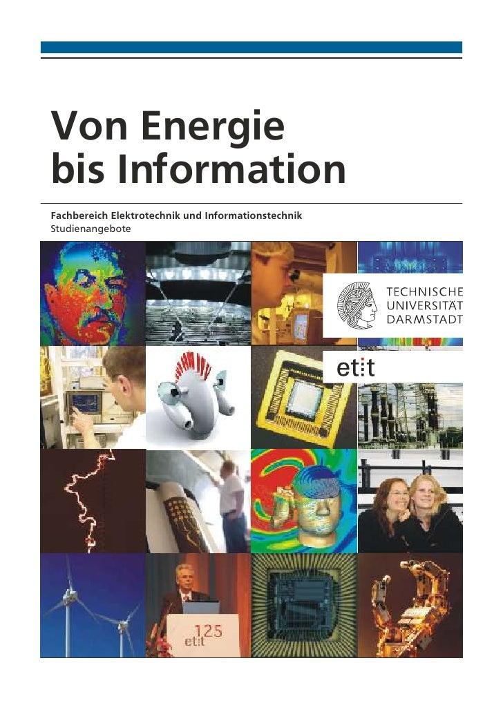 Von Energiebis InformationFachbereich Elektrotechnik und InformationstechnikStudienangebote