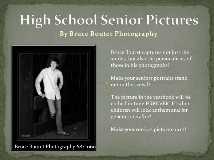 Bruce Boutet High School Senior Pictures