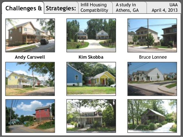 Challenges & Strategies: Infill Housing Compatibility A study in Athens, GA UAA April 4, 2013 Andy Carswell Kim Skobba Bru...