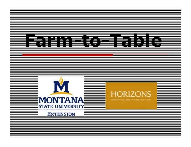 Farm-to-Table