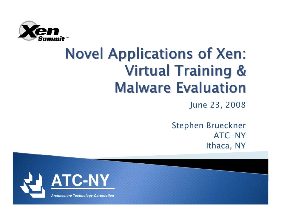 XS Boston 2008 Malware & Training