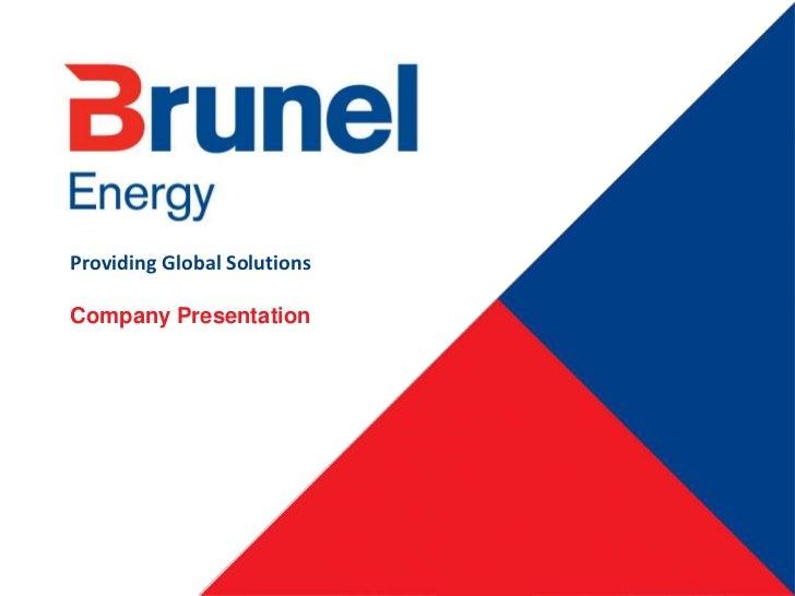 Brunel Energy Global Master