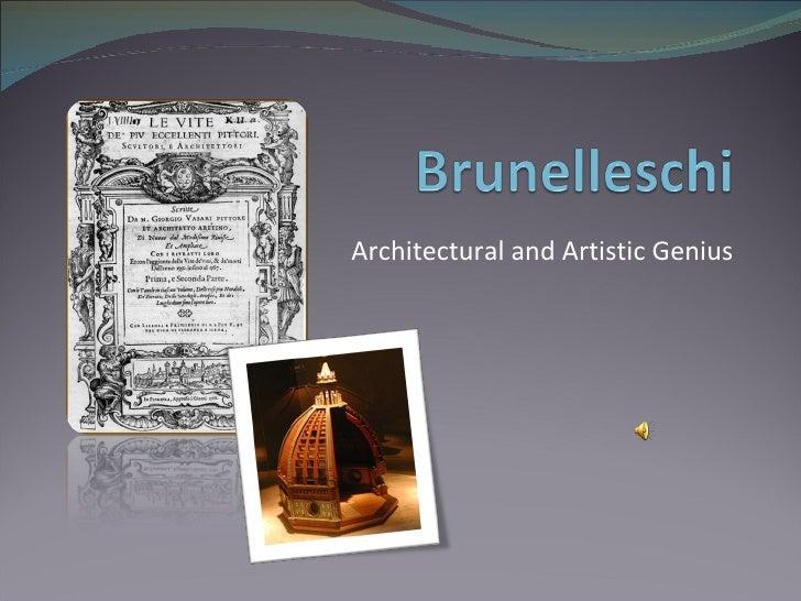 Architectural and Artistic Genius