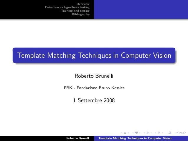 Overview        Detection as hypothesis testing                   Training and testing                           Bibliogra...