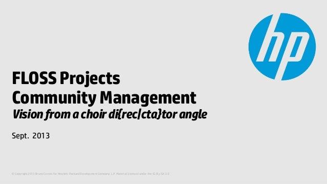 Choir and Community Management