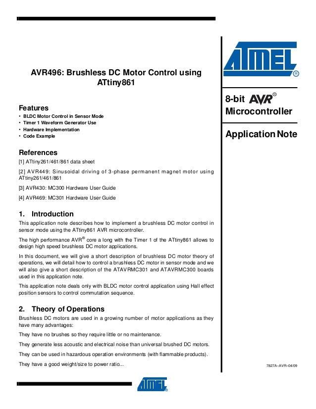 Brushless Dc Motor Control Using
