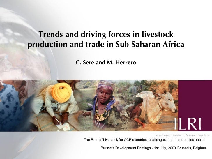 Trends and driving forces in livestock production and trade in Sub Saharan Africa, July 2009, by ILRI Director General Carlos Seré