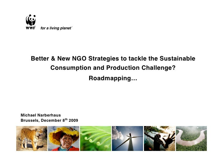 Better or new NGO strategies to tackle the  SCP challenge?