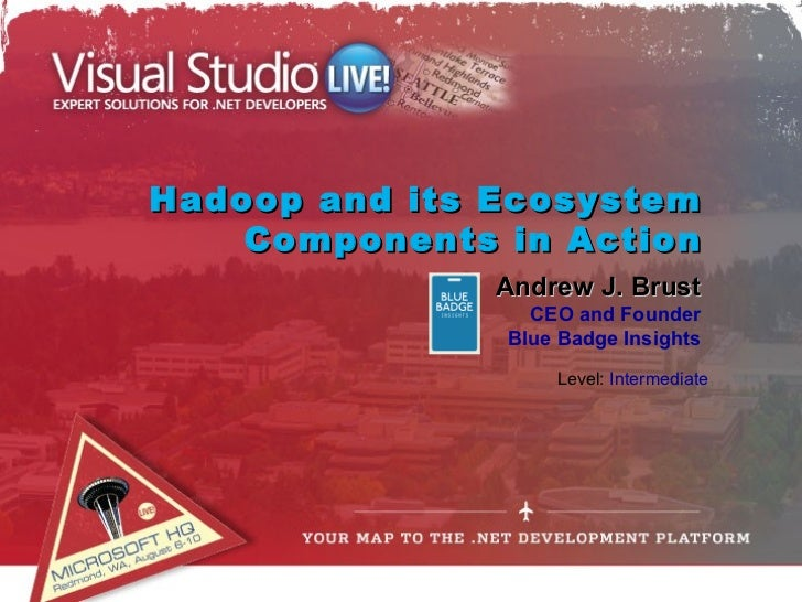 Hadoop and its Ecosystem    Components in Action               Andrew J. Brust                 CEO and Founder            ...