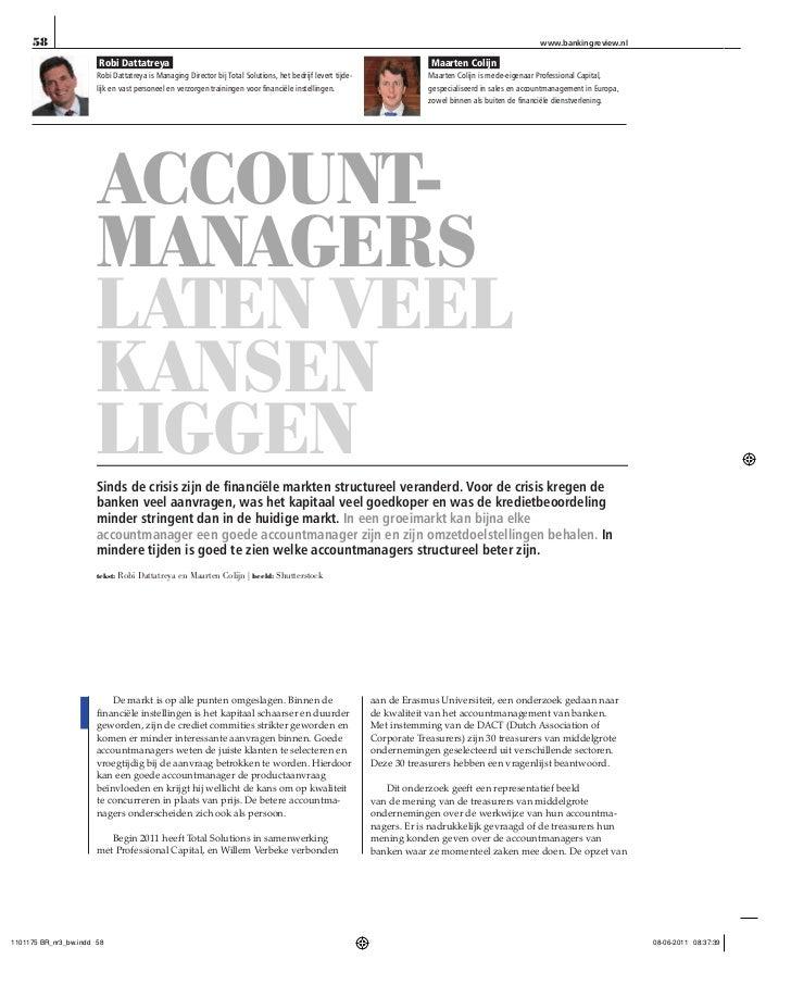 BRV   accountmanagers laten veel kansen liggen