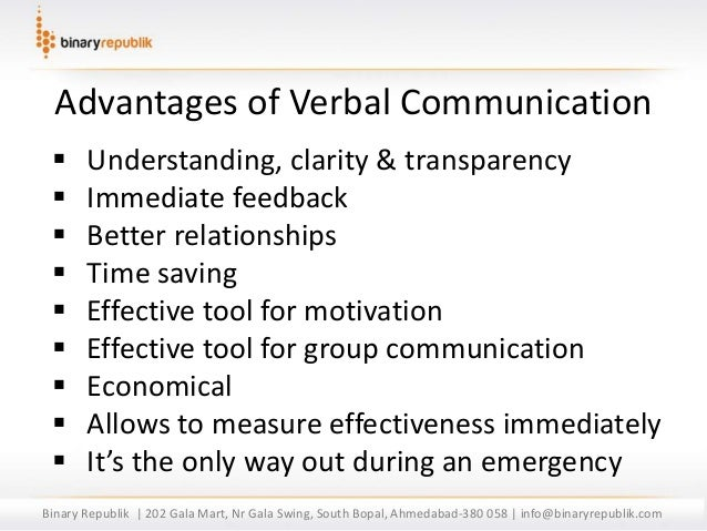 Br verbal communication