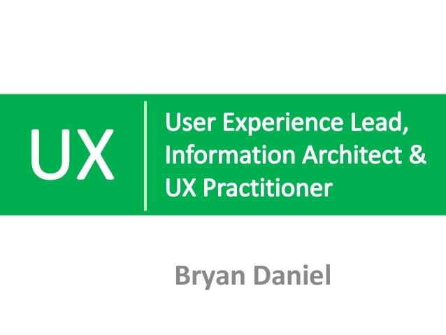 Bryan Daniel UX Portfolio