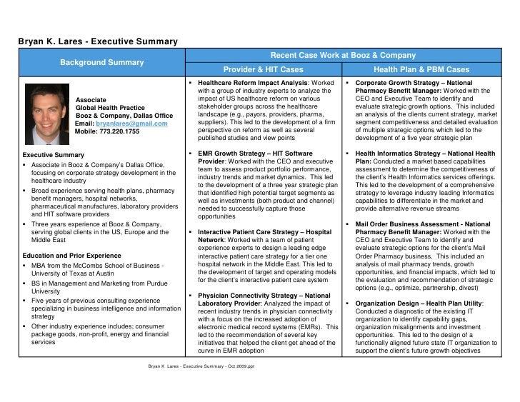 Executive Summary Resume. Example Of Executive Resume New Media ...