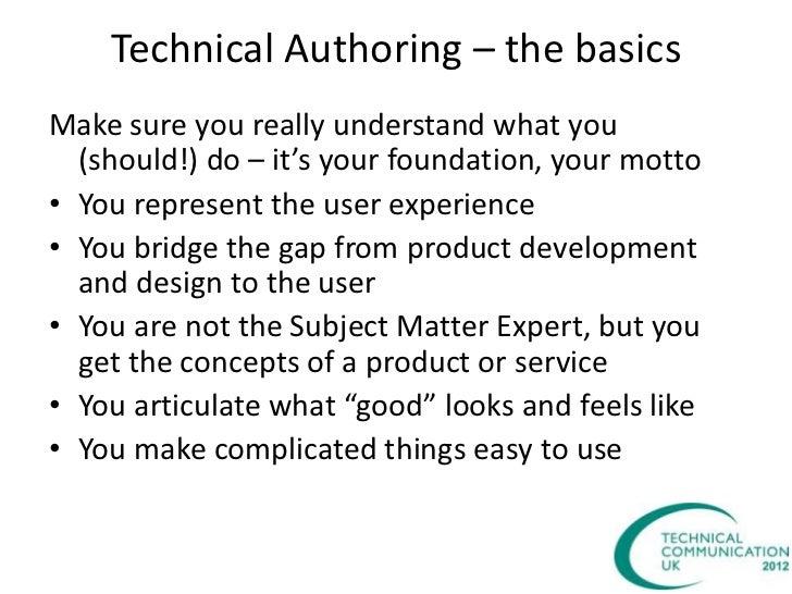 Technical author
