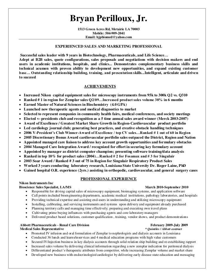 bryan perilloux 2011 resume bioscience