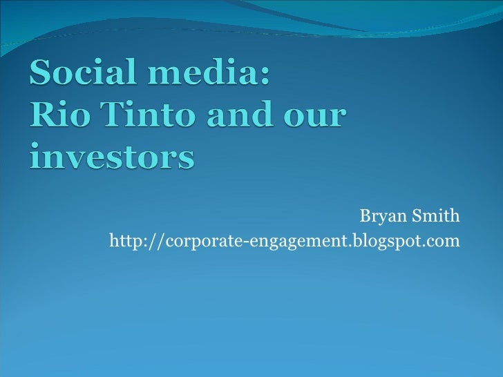 Bryan Smith http://corporate-engagement.blogspot.com