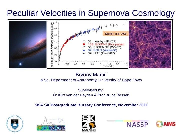 Peculiar Velocities in Supernova Cosmology                                           Kessler, et al. 2009                 ...