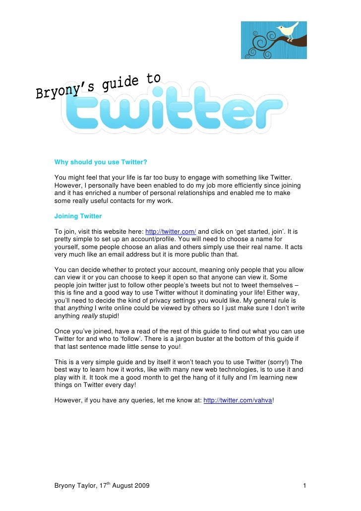 Bryony's Guide To Twitter
