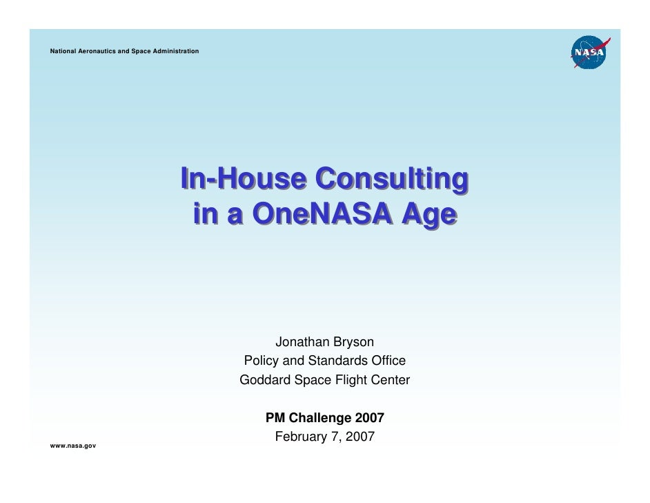 National Aeronautics and Space Administration                                       In-House Consulting                   ...