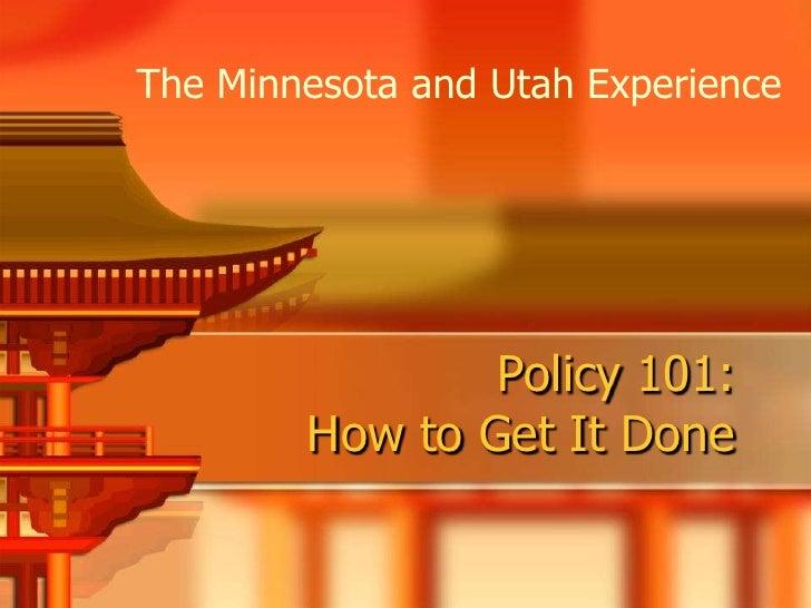 Brzezinski Roberts Minn Utah Policy101