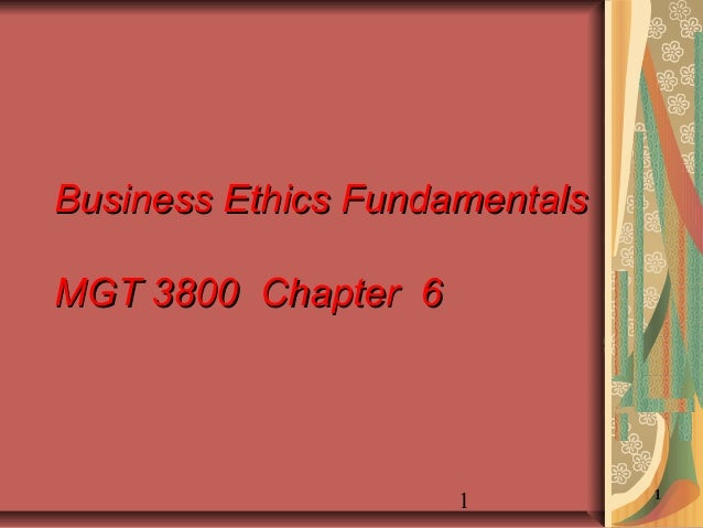 Business Ethics Fundamentals Training by University of Utah