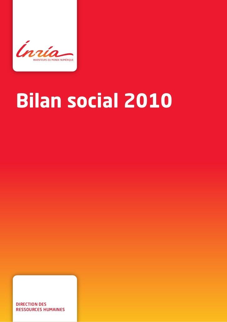 Inria - Bilan social 2010